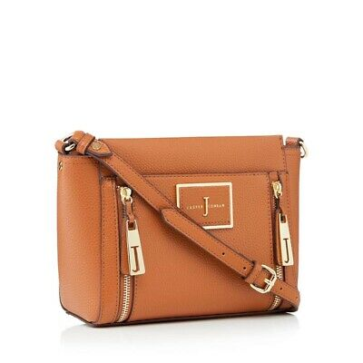 J By Jasper Conran - Women's Tan Faux Leather Double Zip Cross Body Bag • 4.90£