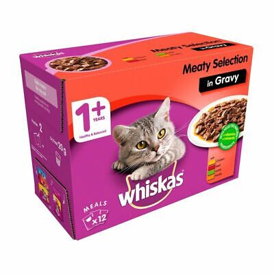 Whiskas Wet Adult Cat Food Meaty Selection 12 Pouches • 7.29£