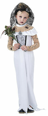 Halloween Zombie Bride Dead Corpse Ghost Fancy Dress Costume Kids 8-10 Year BNIP • 7£