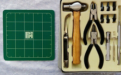 Hole Punch Eyelet Setter Kit Papermania Tools Hammer Pliers Needles Scrapbooking • 9.79£