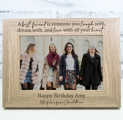 £11.99 • Buy Personalised Birthday Photo Frame Birthday Gift 18th 21st 30th 40th Best Friends