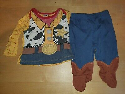 Sheriff Woody Toy Story Outfit Disney 0-3months Unisex • 0.99£