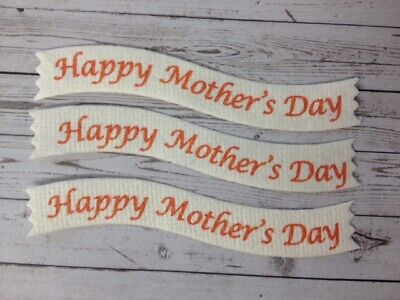 £1.95 • Buy 25 Die-Cut HAPPY MOTHER'S DAY Sentiment Banners Card Making Craft Embellishments