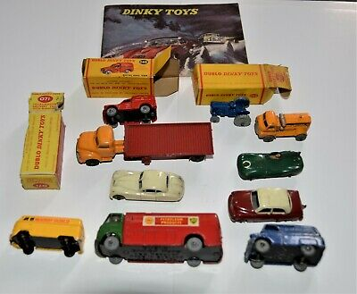 DINKY DUBLO Bedford Flat Truck, Royal Mail Van, & Eight Other Diecast Vehicles  • 88.03£