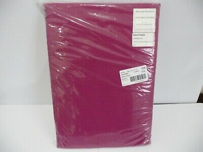 NEW Tab Top Lined Curtains & Tie Backs - Cranberry - 66  X 54  Sealed In Packet • 7.50£