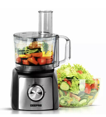Geepas 1200W Food Processor Blender Chopper Grater Dough Mixer 2 Speed & Pulse • 54.54£