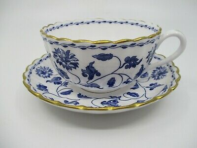 SPODE BLUE COLONEL (Gold Trim) CUP & SAUCER  - 2 1/8 X 3 1/4   1004B • 21.93£