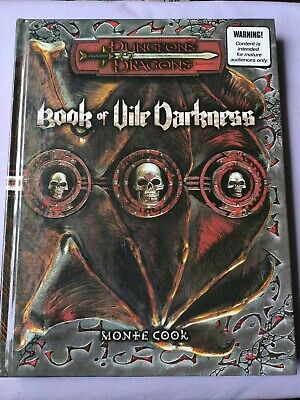 AU180 • Buy Dungeons & Dragons BOOK OF VILE DARKNESS 3rd Edition 3.5 D&d 2002 MONSTER HC