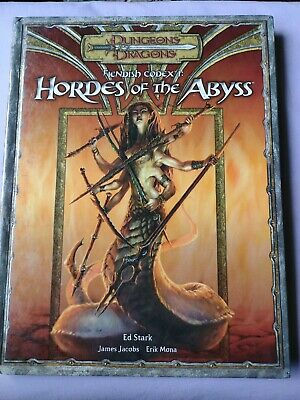 AU160 • Buy Dungeons & Dragons 3rd Edition HORDES OF THE ABYSS Fiendish Codex 1 2006 3.5 D&d