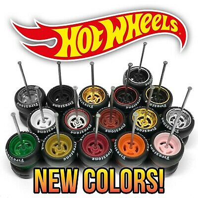 $ CDN6.24 • Buy Hot Wheels 4 SPOKE Real Riders JDM Classic Wheels And Tires Set For 1/64 Scale