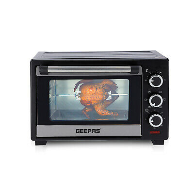 Geepas 19L Electric Mini Oven & Grill Rotisserie Countertop Compact Cooker 1280W • 49.99£