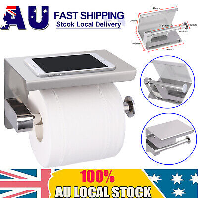 AU24.75 • Buy 304 Stainless Steel Toilet Paper Roll Holder Bathroom Tissue Wall Mount Holder