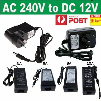 AU14.24 • Buy 12V 2A 5A AC/DC AU Power Supply Adapter Safety Charger For LED Strip CCTV Camera