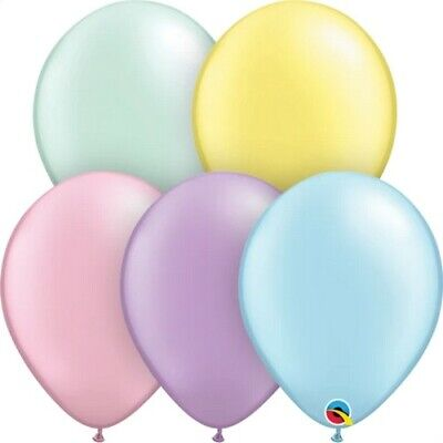 AU4.49 • Buy 5  Inch 13 Cm Qualatex Balloon Round Pastel Pearl 10_ Pack Latex  Party Supplies