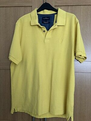 Polo Shirt Large Yellow By Marks & Spencer • 1.50£