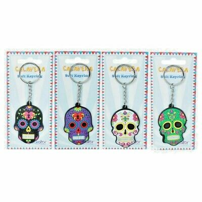 Collectable Fun Novelty Day Of The Dead Skull PVC Keyring Key Chain • 4.85£