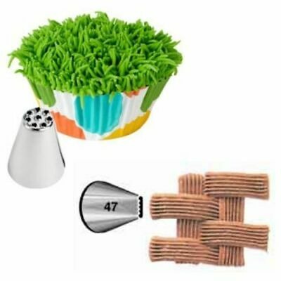 £4.49 • Buy Wilton Hair And Basketweave Piping Tip Set, Nozzle 47 & 233 - FREE DELIVERY!
