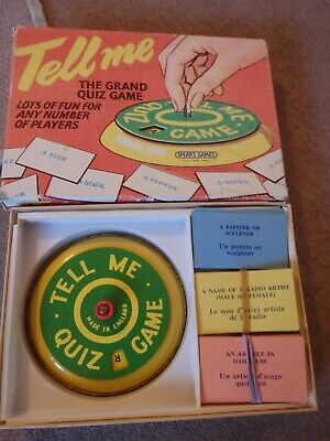 Vintage 1960's Tell Me The Grand Quiz Game - Spear's Games, VGC • 2£
