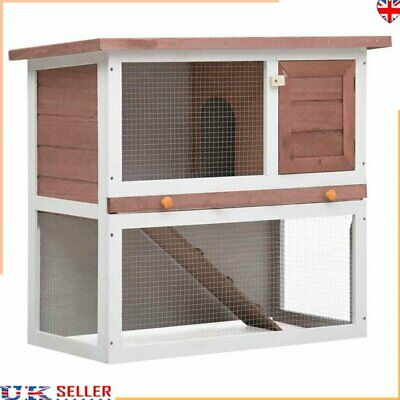 £124.91 • Buy RABBIT HUTCH GUINEA PIG HUTCHES RUN RUNS LARGE 2 TIER DOUBLE DECKER Carrier CAGE