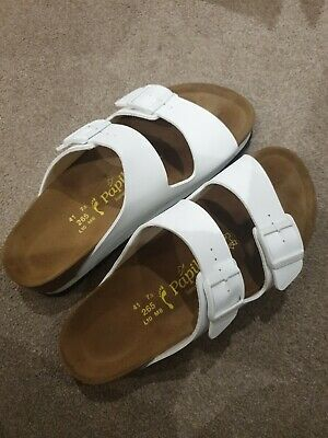 Birkenstock Arizona Papillio White Vegan Platform Sandals Worn Once Size 7.5/41 • 44.99£