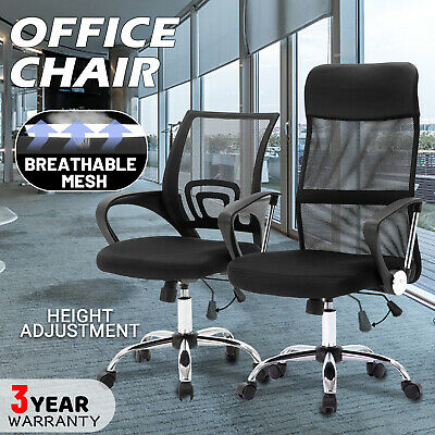 AU49.90 • Buy Office Mesh Chair Computer Gaming Foam Seat Executive High/Mid Back Adjustable