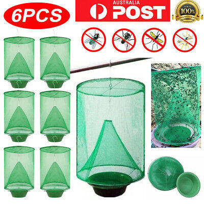 AU16.99 • Buy 6PCS Ranch Fly Trap Insect Killer Net Cage Home Outdoor Bug Pest Hanging Catcher