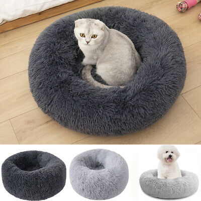 AU21.89 • Buy Dog Cat Pet Calming Bed Warm Soft Plush Round Nest Comfy Sleeping Kennel Cave AU
