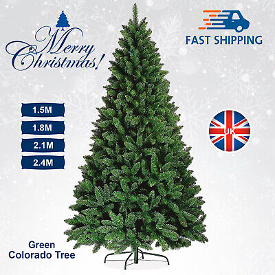 4ft / 8ft Christmas Tree Colorado Green Pine Artificial Traditional Spruce Xmas • 22.99£