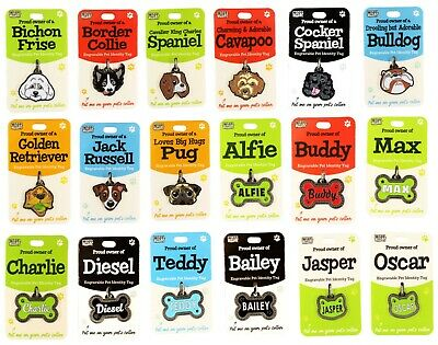 Wags & Whiskers Engravable Pet Identity Tag Dog Collar Bone Tag Cat Name Tag • 3.49£