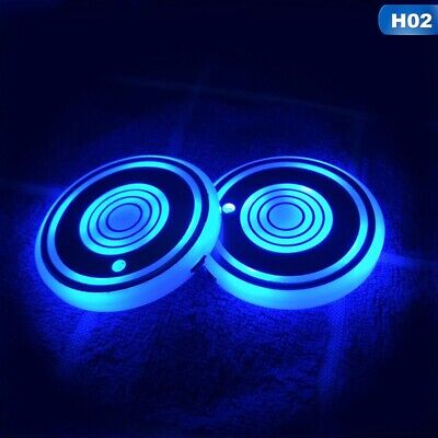AU11.76 • Buy 2x LED Cup Pad Car Accessories Light Cover Interior Decoration Lights