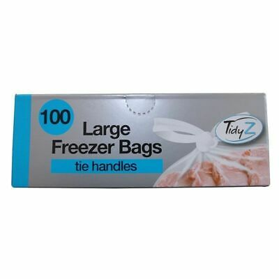 100 Pack Fridge Freezer Food Bag Tie Handles • 4.39£