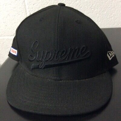 $ CDN53.40 • Buy 2010 Supreme New Era Black Fitted Hat 7 1/2 *SEE PICS*