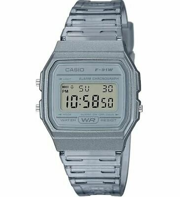 $ CDN25.36 • Buy Casio Women's Classic Digital Quartz Grey Transparent Resin Watch F91WS-8