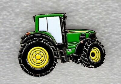 John Deere Tractor Pin Badge. Larger Size. Green Design. Metal. Enamel • 2.50£