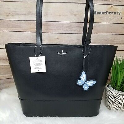 $ CDN141.37 • Buy NWT Kate Spade Adley Large Tote Shoulder Bag In Black Leather Handbag New