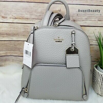 $ CDN225.56 • Buy NWT Kate Spade Caden Carter Leather Backpack Soft Taupe Gray Handbag Authentic