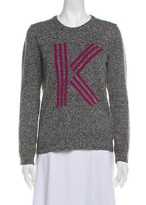 AU130 • Buy KENZO Designer Wool Printed Crew Sweater Jumper Pullover Size M RRP $450