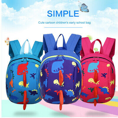 Cartoon Toddler Kids Dinosaur Safety Harness Strap Bag Backpack With Reins Gift • 4.79£