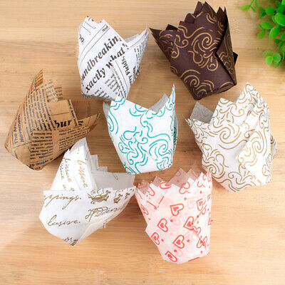 £3.89 • Buy 50pcs Cupcake Baking Cups Cases Muffin Cup Papers Wrapper Tulip Case Cake Paper