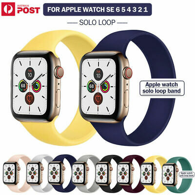 AU12.99 • Buy For Apple Watch Band Series SE 6 5 4 3 2 Solo Loop Silicone Elastic IWatch Strap