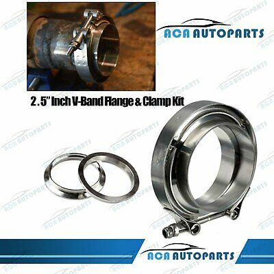 AU25.50 • Buy 2.5  Inch 64mm V Band Vband Clamp 2 Mild Flange Kit Turbo Exhaust Tail Pipe