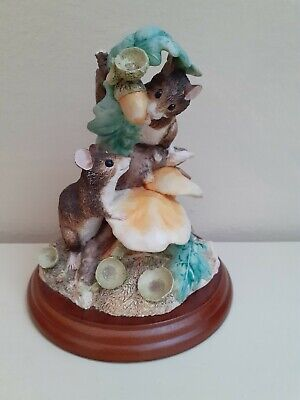 Border Fine Arts Stunning 'Woodlands Feast' Mice Sculpture Figurine • 30£