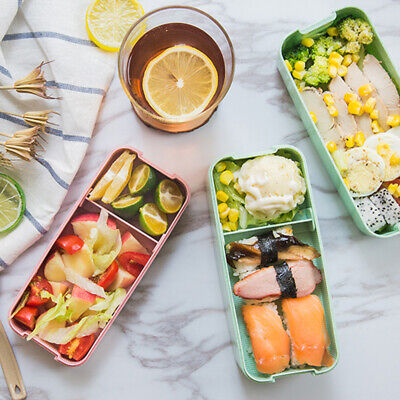 AU15.39 • Buy 3-Layer Lunch Bento Box Student Eco-Friendly Leakproof Food Container Boys Girls