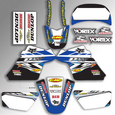 $ CDN84.66 • Buy 1990 - 2018 Yamaha Pw 50 Pw50 Graphics Kit Pro Circuit : Blue / Black Mx Decals