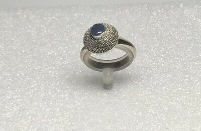 925 Silver Ring, Opal Triplet Gemstone, Granulation Surround Size O1/2 • 10£