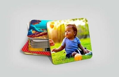 Personalised Photo Hardboard Coaster Custom Printed Drink Coaster 9cm Square • 1.99£