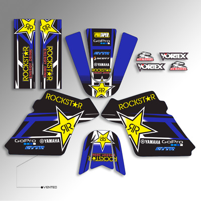 $ CDN36.27 • Buy 1990 - 2018 Yamaha Pw 50 Pw50 Graphics Kit Rockstar Blue Black Mx Decals Sticker