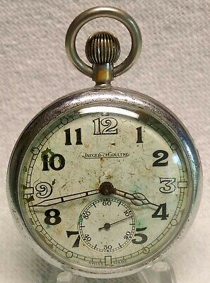 WW2 RAF Navigators Jeager-LeCoultre 467/2 Pocket Watch Circa 1940 FULLY Serviced • 200£