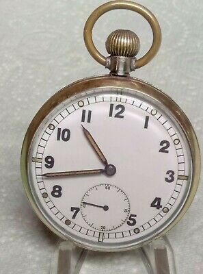 WW2 British Military Enicar FHF 2144 GS/TP  Pocket Watch Fully Serviced  • 94£