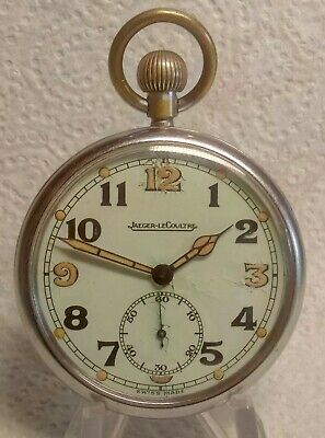 WW2 BRITISH Military Jeager-LeCoultre Pocket Watch Circa 1940 FULLY Serviced Vgc • 225£